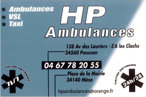 HP AMBULANCES POUSSAN