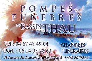 POMPES FUNÈBRES DU BASSIN DE THAU